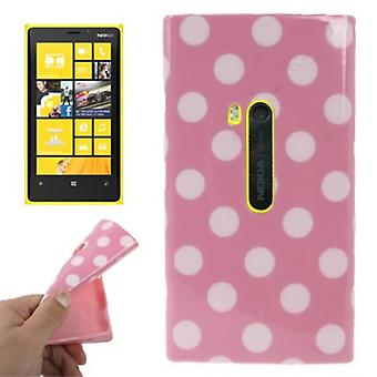 Protective case TPU points of case for mobile Nokia Lumia 920 pink