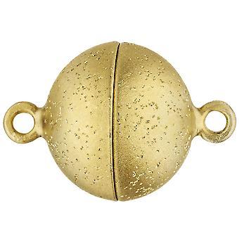 Keten gesp magnetische sluiting frosted 585 goud geel gouden gesp