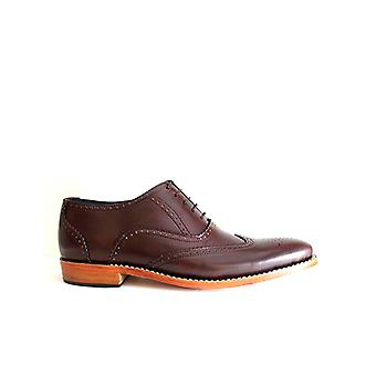 Handcrafted Premium Leather Greenhill Brogue Dark Brown Leather