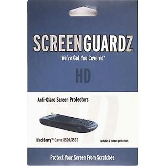 BodyGuardz ScreenGuardz HD Anti Glare Screen Protector for BlackBerry 8520 Curve 3G / Curve 2 (2 Pack)