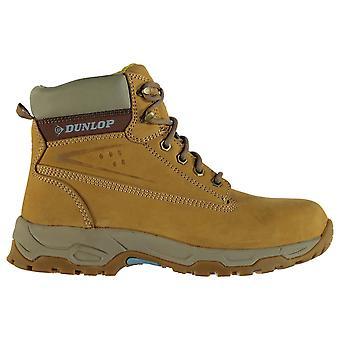 Womens Dunlop sul sito sicurezza stivali STRINGATE scarpe della caviglia imbottito collare di cuoio