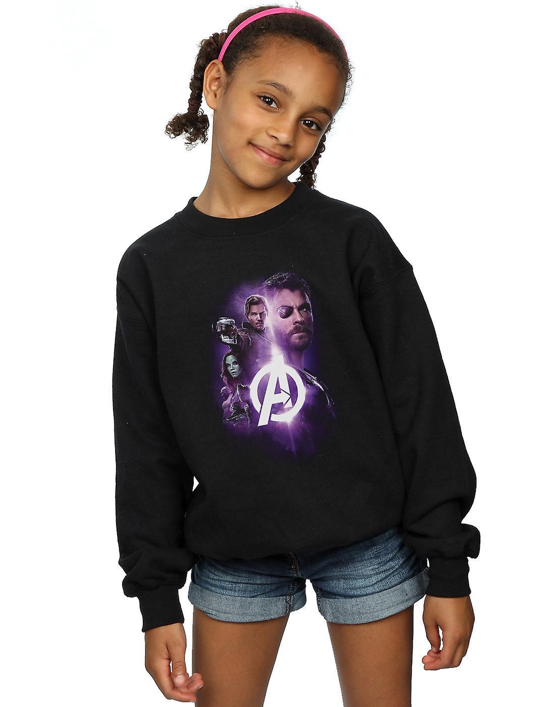 Marvel Girls Avengers Infinity War Thor Guardians Team Up Sweatshirt