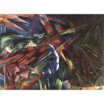 Fate of the Animals,Franz Marc,50x40cm