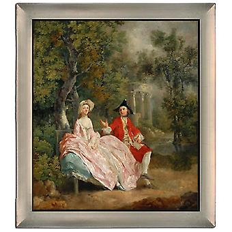 Par Ram Conversation in the Park, Thomas Gainsborough, 61x51cm