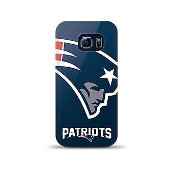 Mizco Sports NFL Oversized Snapback TPU Case for Samsung Galaxy S6 Edge (New England Patriots)