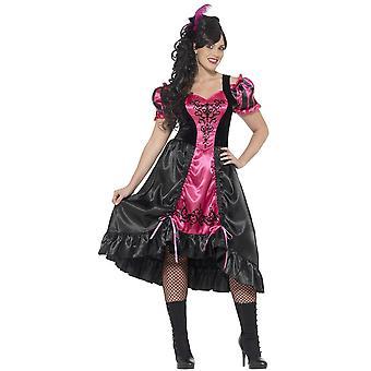 Kobiety stroje Saloon Lady Dress Up kostium