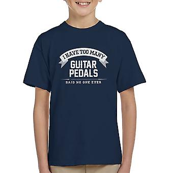 I Have Too Many Guitar Pedals Said No One Ever Kid's T-Shirt