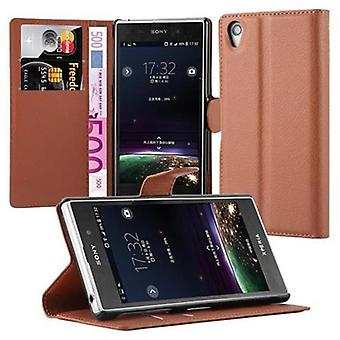 Cadorabo Case for Sony Xperia Z1 Case Cover - Phone Case with Magnetic Closure, Stand Function and Card Case Compartment - Case Cover Case Case Case Case Book Folding Style