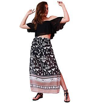 Lovemystyle Chiffon Maxi Skirt With Side Split