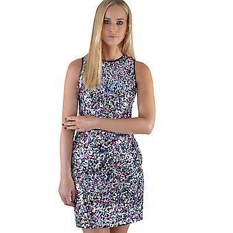 Lovemystyle meerkleurig pailletten korte Vest jurk
