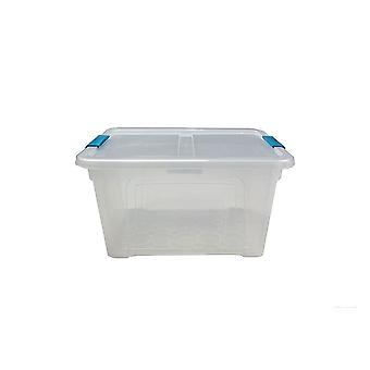 1 x 32 Litre Storage Box And Lid With Clips Storage Furniture