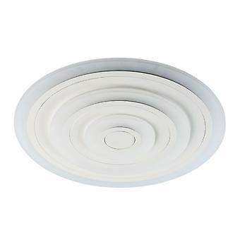 Glasberg - LED Flush Ceiling Light Large Round In White 661016101