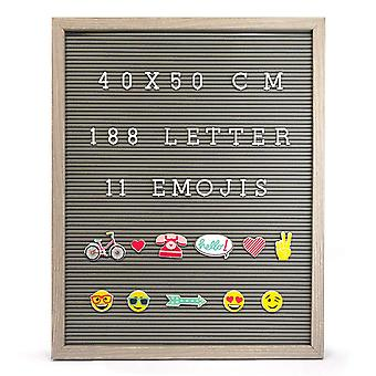 Knight 40cm x 50cm Retro Message Peg Board with Frame Emojis, Numbers & Letters