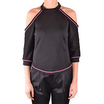 Pinko Ezbc056247 Kvinder's Sort bomuldsweater