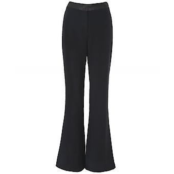 Diane Von Furstenberg Garnett Satin Waist Flared Trousers