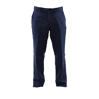 Corneliani 834ex59120223001 Men's Blue Linen Pants