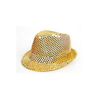 Sombrero de sombreros escarcha oro
