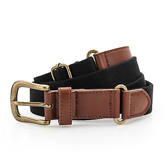 Outdoor Look Womens Faux Leather Canvas Belt
