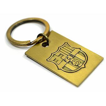FC Barcelona Vintage Embossed Metal Keyring