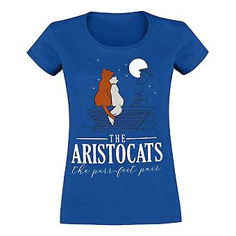 Aristocats Aristocats Purrfect Pair Fitted Blue T-Shirt