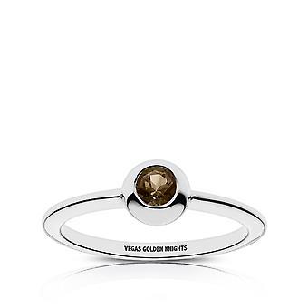 Vegas Golden Knights Quartz Stone Ring In Sterling Silver Design by BIXLER