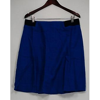 Kelly by Clinton Kelly Skirt A-Line w/Back Zipper Blue A223896