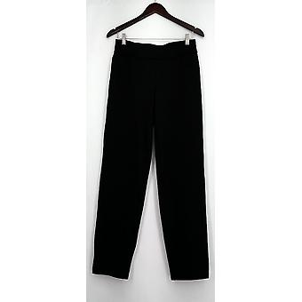 Womens S Pull-on Solid Knit Leggings with Elastic Waist Black Womens PTC