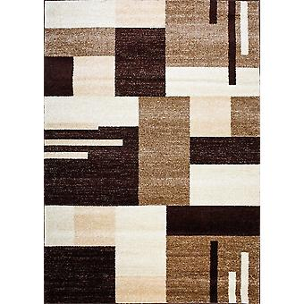 Design carpet of the highest quality Light Brown/Dark Brown