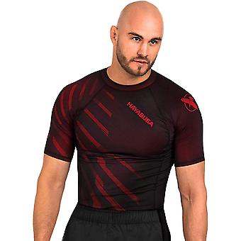 Hayabusa Odor Resist Short Sleeve MMA Compression Rashguard - Red