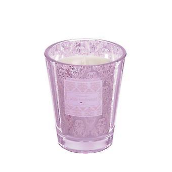 Duftkerze Alma Fresh Leinen Pink 12 cm