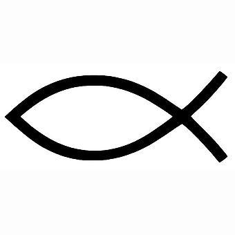 Jesus Fisch Jesus Fisch Auto Aufkleber Aufkleber schwarz 15,2 * 6,4 CM