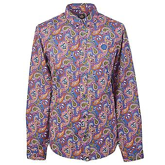 PRETTY GREEN Slim Fit Vintage Paisley Print Shirt
