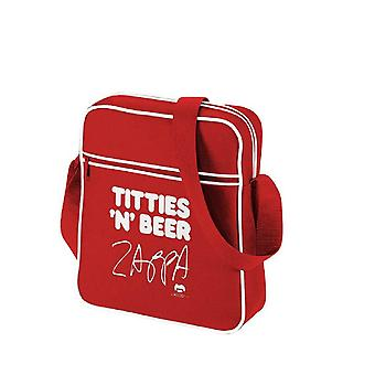 Frank Zappa Titties N Beer Official New Red Mini retro flight Bag