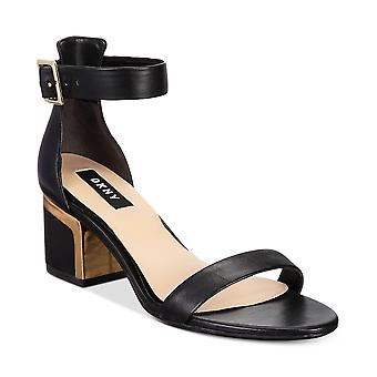 DKNY naisten Henley nahka avoimen rento nilkka hihna sandaalit