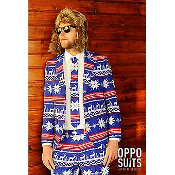 Rudolph Reindeer suit Christmas Xmas suit slimline men's 3-piece premium EU SIZES