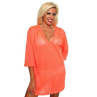 Women's V-Neck Hoodie Beach Dress