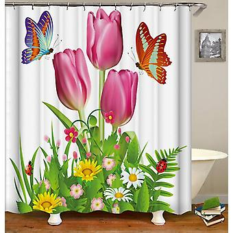 Rosy Tulips Shower Curtain