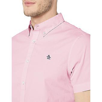 Original Penguin Men's Short Sleeve Core Poplin, Parfait Pink, Size X-Large
