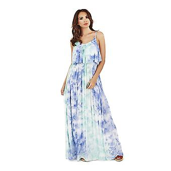 Pistachio Women's Tie Dye Strappy Long Maxi Summer Dress
