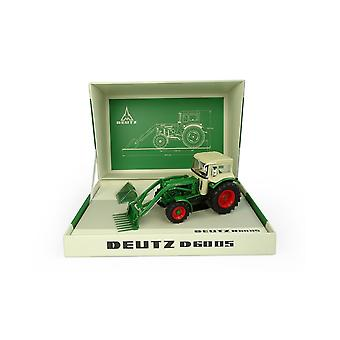 Deutz D6005 4WD with Cab - Front Loader and Attachments Diecast Model Tractor