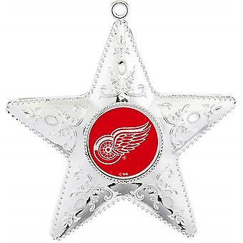 Detroit Red Wings NHL Sports Collectors Series Silver Star Ornament