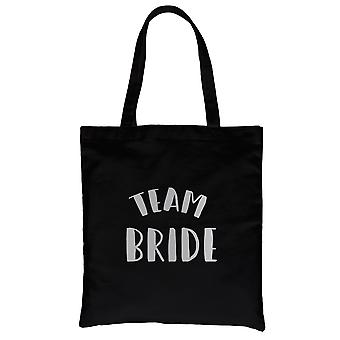 Team Bride-SILVER Black Canvas Shoulder Bag Cheerful Bright Gifts