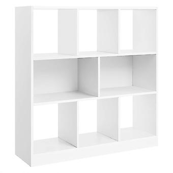 Bookcase with 8 compartments - white