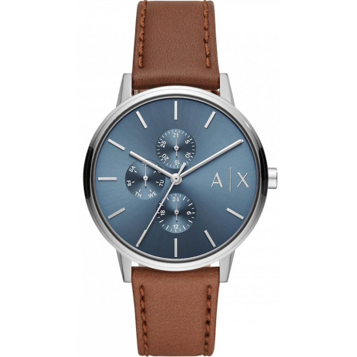 armani exchange leather bracelet