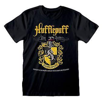 Men's Harry Potter Hufflepuff Crest Black T-Shirt