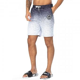 Hype Speckle Fade Crest Black White Shorts HY001-0182