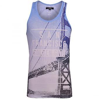 Firetrap Mens Designer Vest sublimatie Print mouwloos zomer Fashion Tank - strand Gym Training