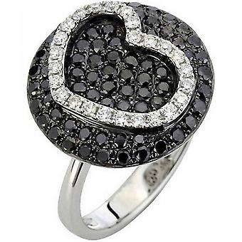 Diamond Ring Ring - 18K 750 White Gold - 1.3 ct.
