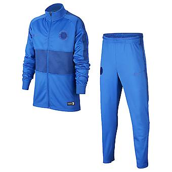 2019-2020 Chelsea Nike Dry Tracksuit (Blu) - Bambini