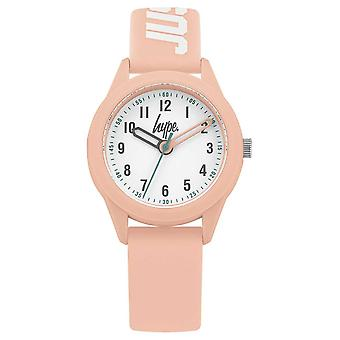 Hype | Pink Silicone Strap | White Dial | HYK005P Watch